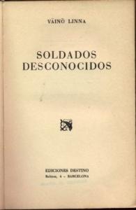 Portada de SOLDADOS DESCONOCIDOS