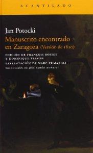 Portada de MANUSCRITO ENCONTRADO EN ZARAGOZA (VERSIÓN DE 1810)