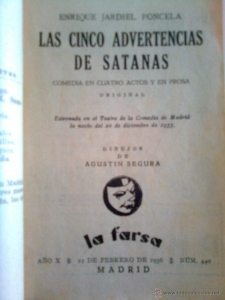 Portada de LAS CINCO ADVERTENCIAS DE SATANÁS