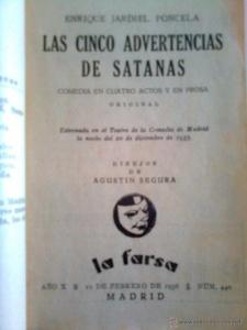 LAS CINCO ADVERTENCIAS DE SATANÁS