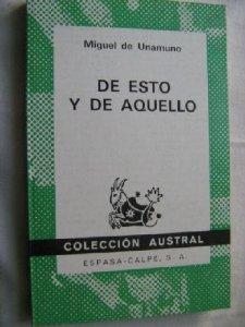 DE ESTO Y DE AQUELLO