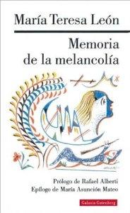 Portada de MEMORIA DE LA MELANCOLÍA