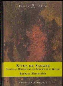 Portada de RITOS DE SANGRE. ORÍGENES E HISTORIAS DE LAS PASIONES DE LA GUERRA