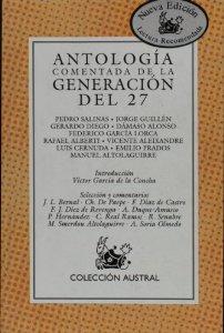 Portada de ANTOLOGÍA COMENTADA DE LA GENERACIÓN DEL 27