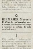EL CLUB DE LAS NECROLÓGICAS