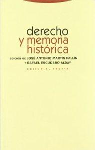 Portada de DERECHO Y MEMORIA HISTÓRICA