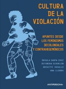 Portada de CULTURA DE LA VIOLACIÓN. APUNTES DESDE LOS FEMINISMOS DECOLONIALES Y CONTRAHEGEMÓNICOS