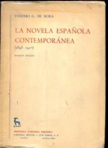 Portada de LA NOVELA ESPAÑOLA CONTEMPORÁNEA