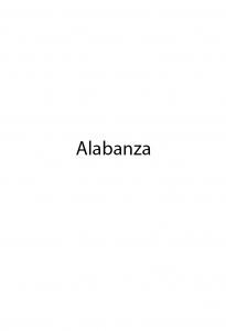 Portada de ALABANZA