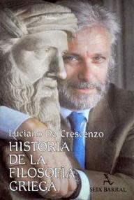 Portada de HISTORIA DE LA FILOSOFÍA GRIEGA I. LOS PRESOCRÁTICOS