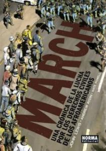 Portada de MARCH: UNA CRONICA DE LA LUCHA POR LOS DERECHOS CIVILES DE LOS AFROAMERICANOS