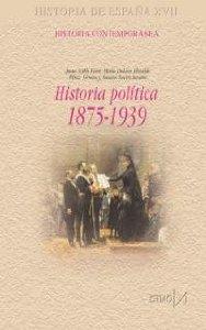 Portada de HISTORIA POLÍTICA DE ESPAÑA 1875-1939