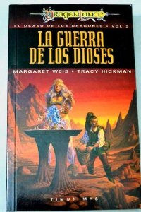 Portada de LA GUERRA DE LOS DIOSES (EL OCASO DE LOS DRAGONES #2)