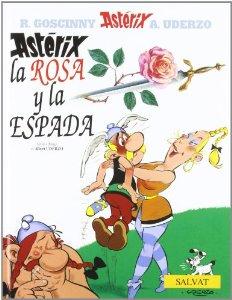 Portada de ASTÉRIX, LA ROSA Y LA ESPADA (ASTÉRIX #32)