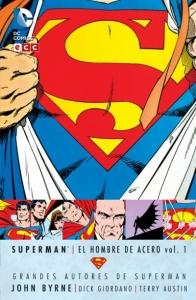 Portada de SUPERMAN: EL HOMBRE DE ACERO (GRANDES AUTORES DE SUPERMAN: JOHN BYRNE #1)