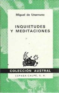 Portada de INQUIETUDES Y MEDITACIONES
