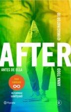 Portada de AFTER. ANTES DE ELLA (AFTER SERIE 0)