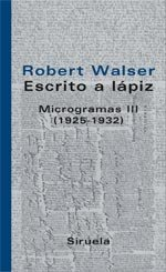 Portada de ESCRITO A LÁPIZ. MICROGRAMAS III (1925-1932)