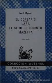 Portada de EL CORSARIO - LARA - EL SITIO DE CORINTO - MAZEPPA