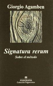 SIGNATURA RERUM. SOBRE EL MÉTODO